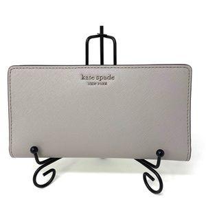 Kate♠️Spade Large Slim Bifolder Wallet Camero Grey